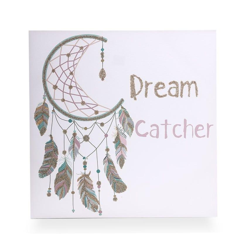 Dream Catcher Parchment Canvas (60 x 60 cms, Multicolour)