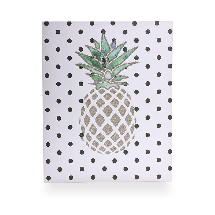 Pineappledots Parchment Canvas (60 x 60 cms, Multicolour)