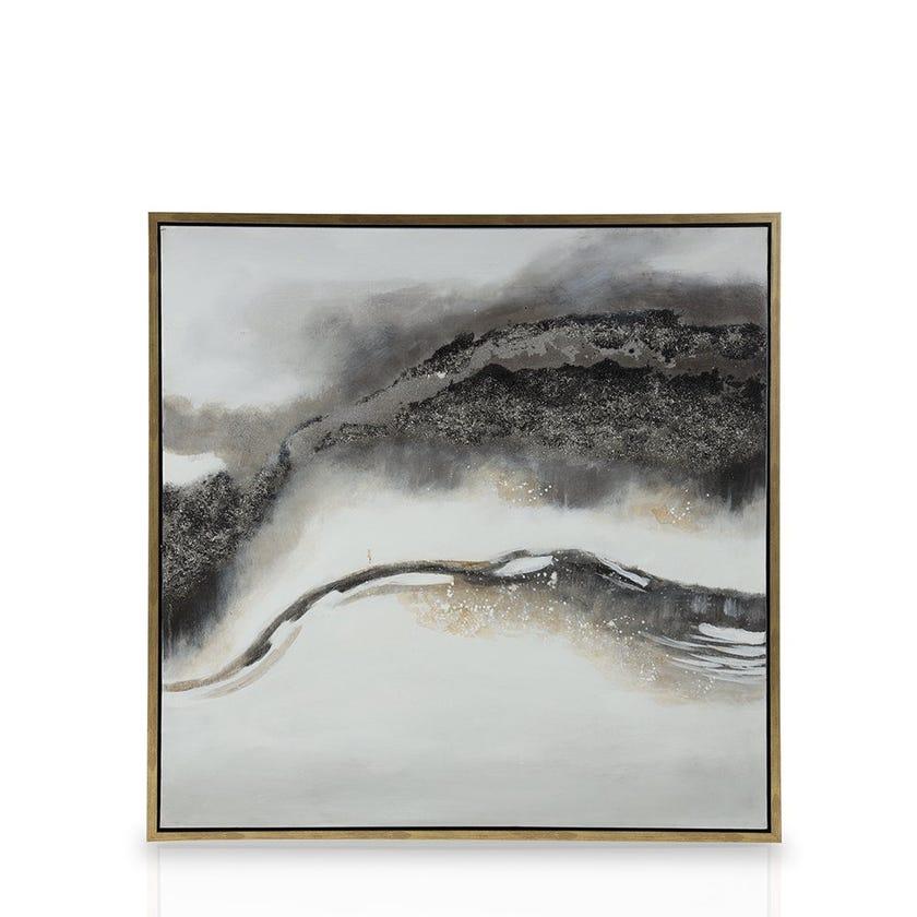 Framed Canvas Art, Modern (100 cm X 100 cm - Multicolour)