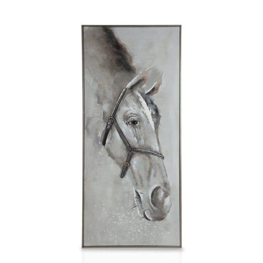 Framed Canvas Art, Leather Horse (80 cm X 180 cm - Multicolour)