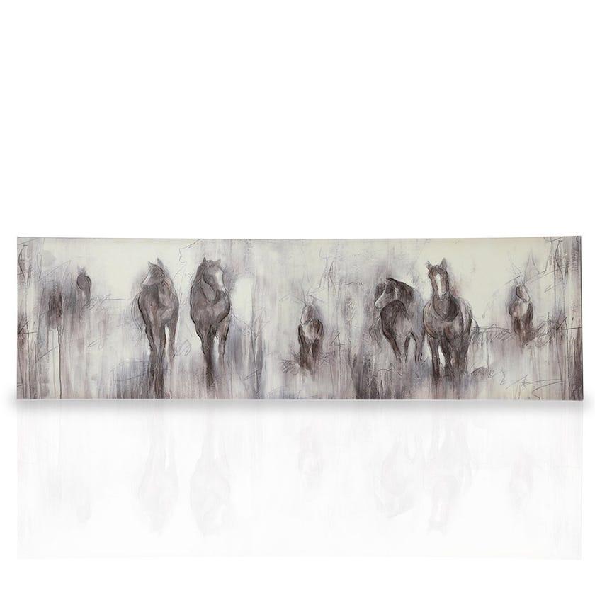 Stallion Framed Canvas Art, Multicolours – 70x20 cms