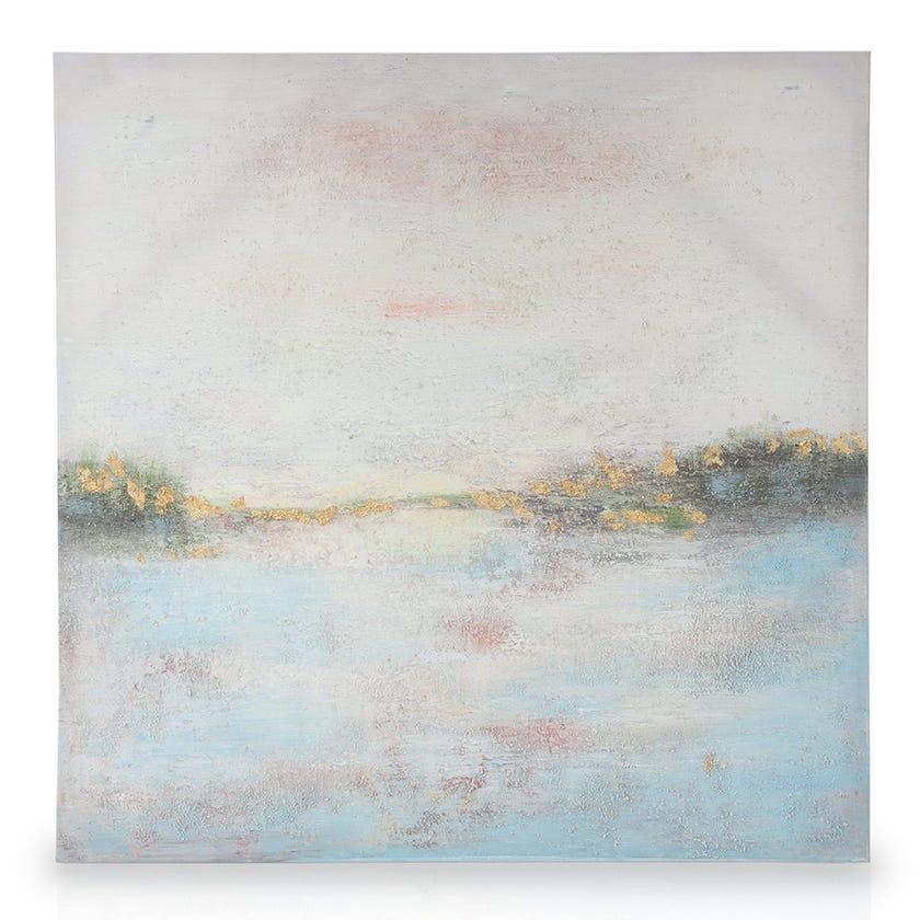 Landscape Framed Canvas Art, Multicolours – 36x36 cms