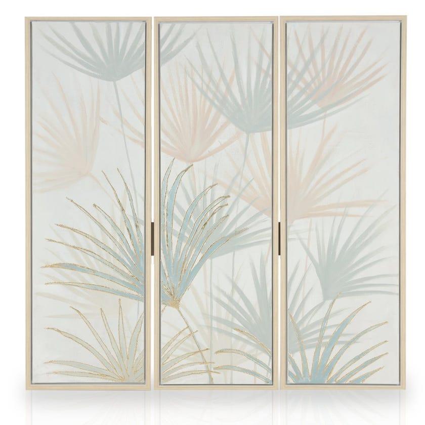 Set of 3 Framed Canvas Art, Grass (40 cm X 120 cm - Multicolour) Set of 3