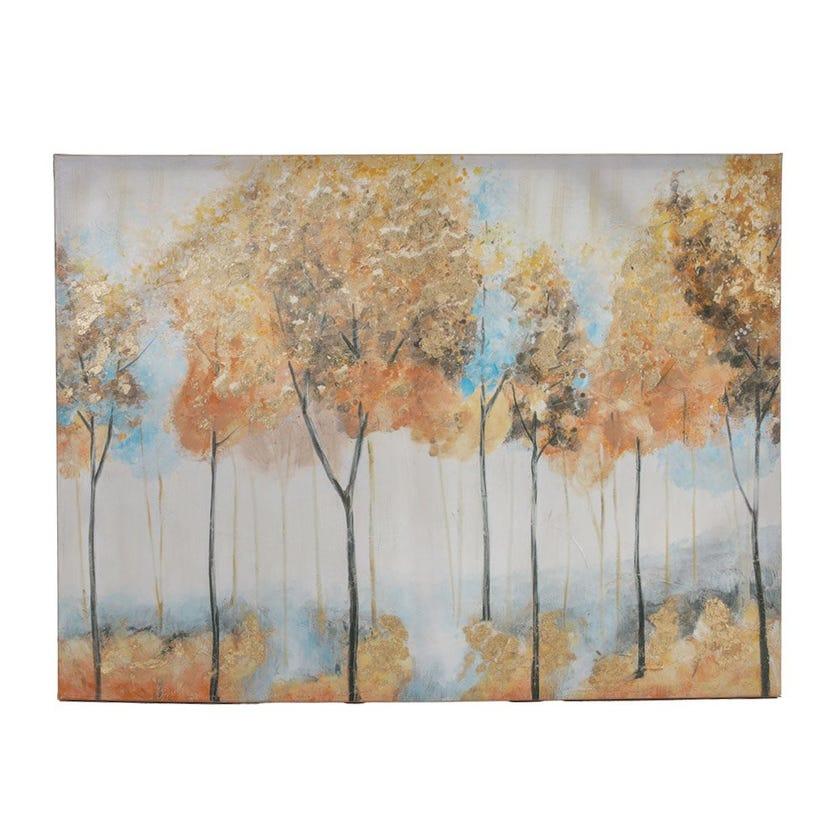 Gold Foiled Trees Canvas Art, Multicolour – 76.2x101.6 cms