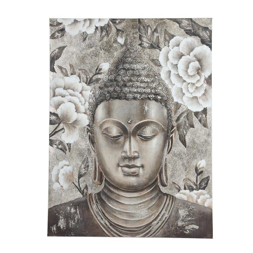 Buddha Canvas Art, Multicolour – 90x120 cms
