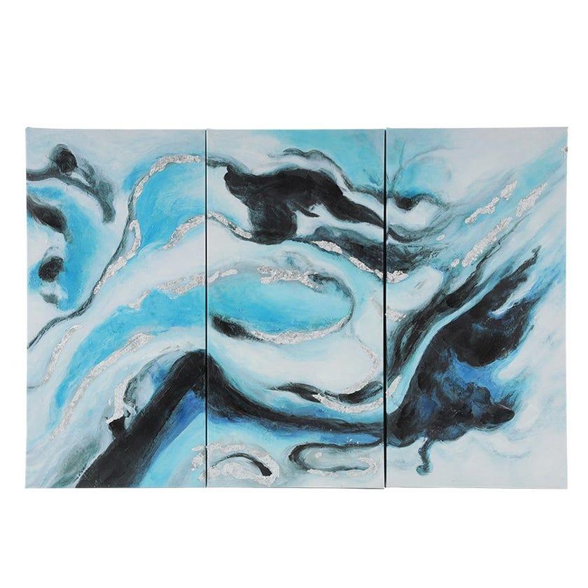 Set of 3 Colorful Art, Multicolour - 90x60 cms