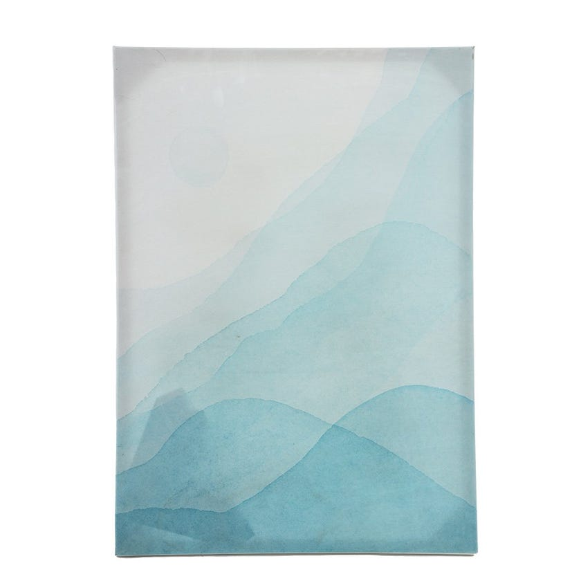Blue Abstract Canvas Art, Multicolour - 50x70 cms