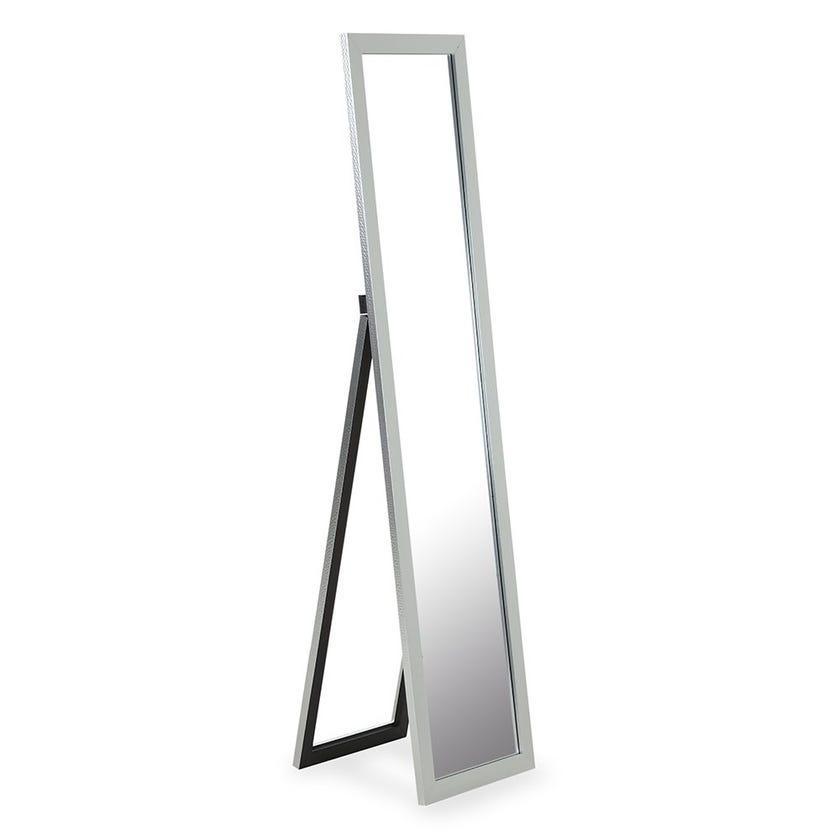 Floor Standing Mirror, Silver