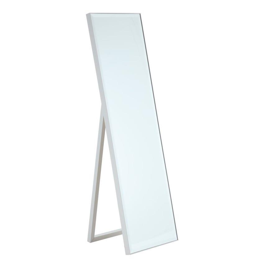 Standing Floor Mirror, Silver