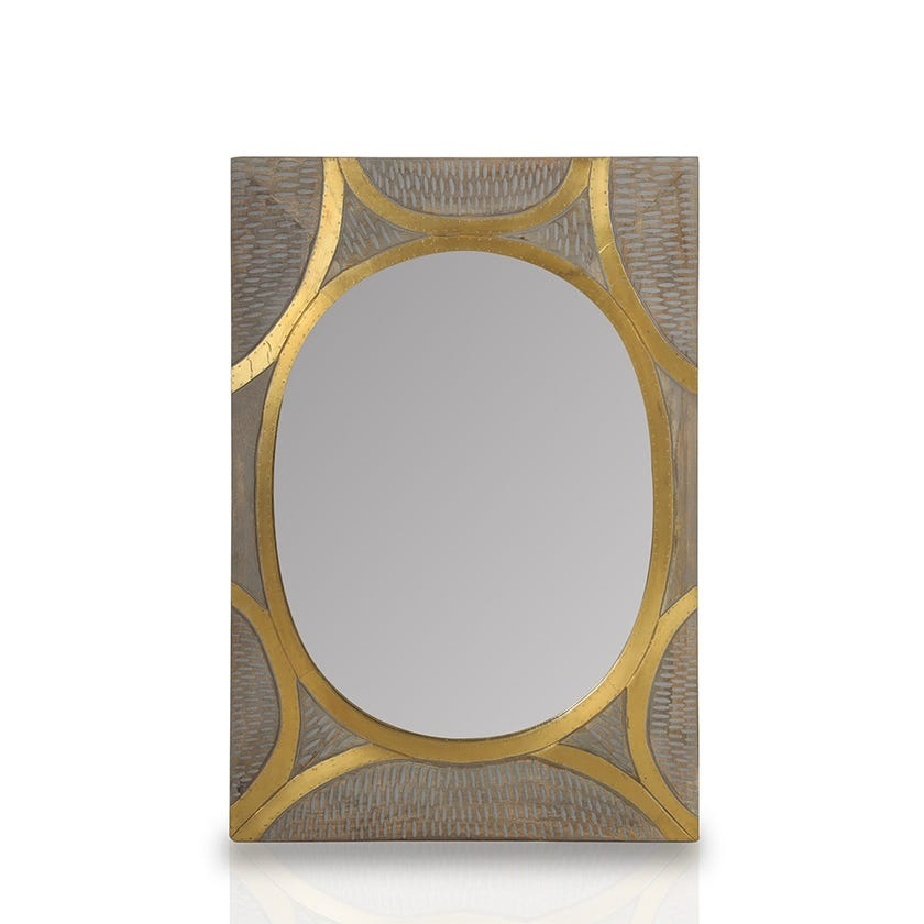 Cassia Wooden Wall Mirror - Natural