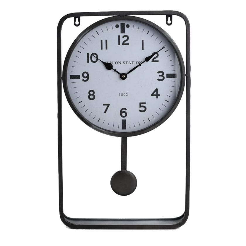 Metal Wall Clock (Grey)