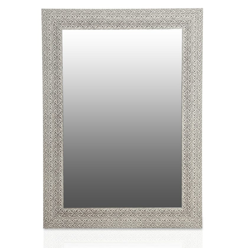 Cielo Bevelled Wall Mirror (Washed Brown - 78 X 108 cms)