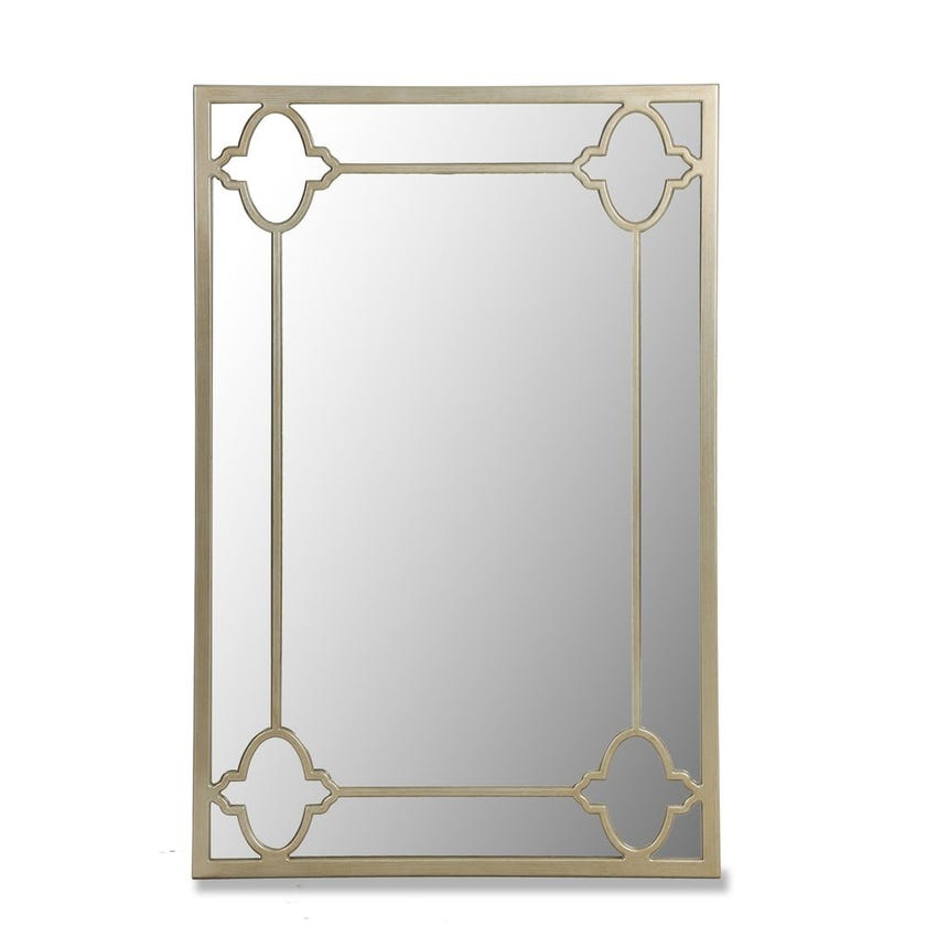 Whitney Rectangular Wall Mirror - Gold