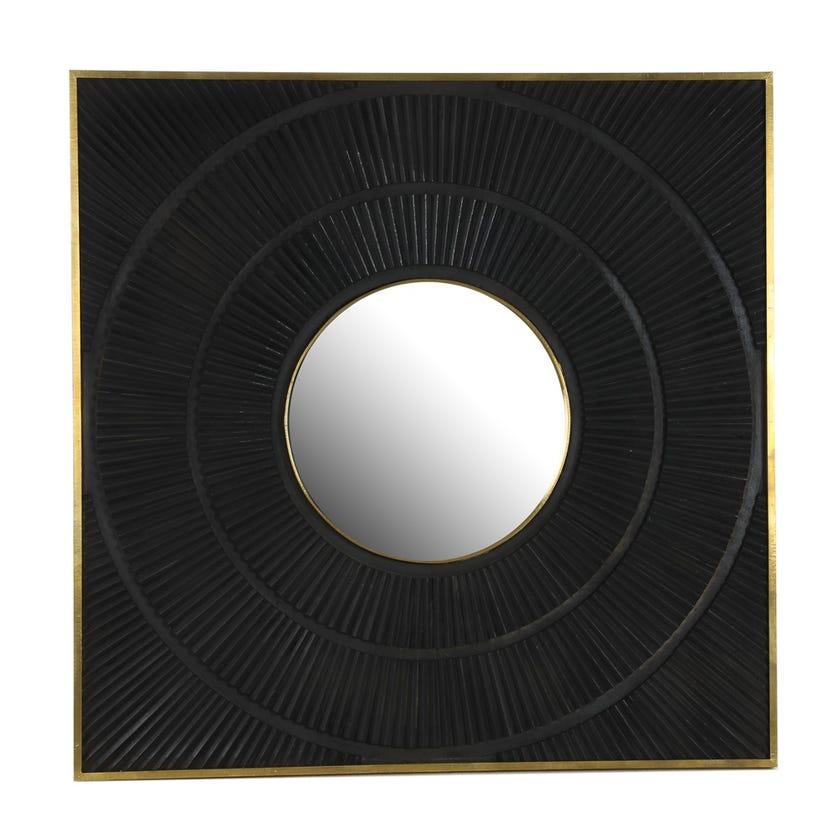 Vermont Wooden Mirror - Black
