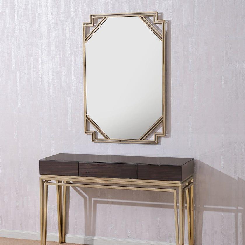 Obama Grain Rectangular Wall Mirror - Gold