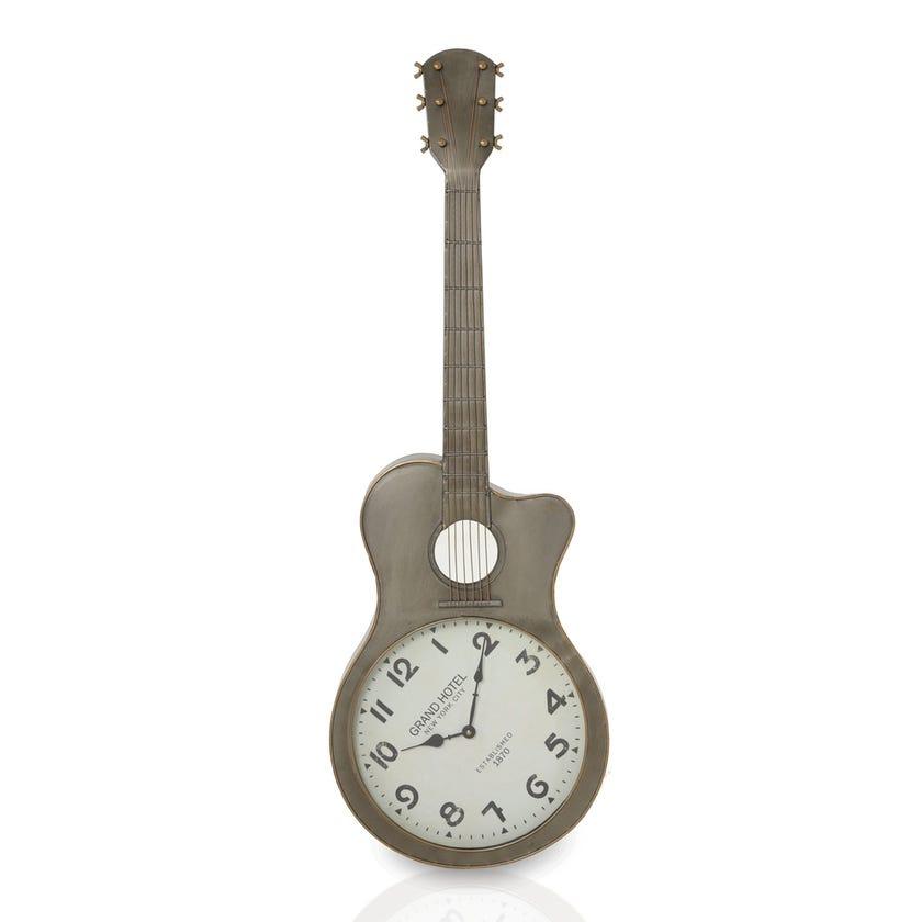 Hanging Clock - Grey Whitewash, 35.5 x 104cms