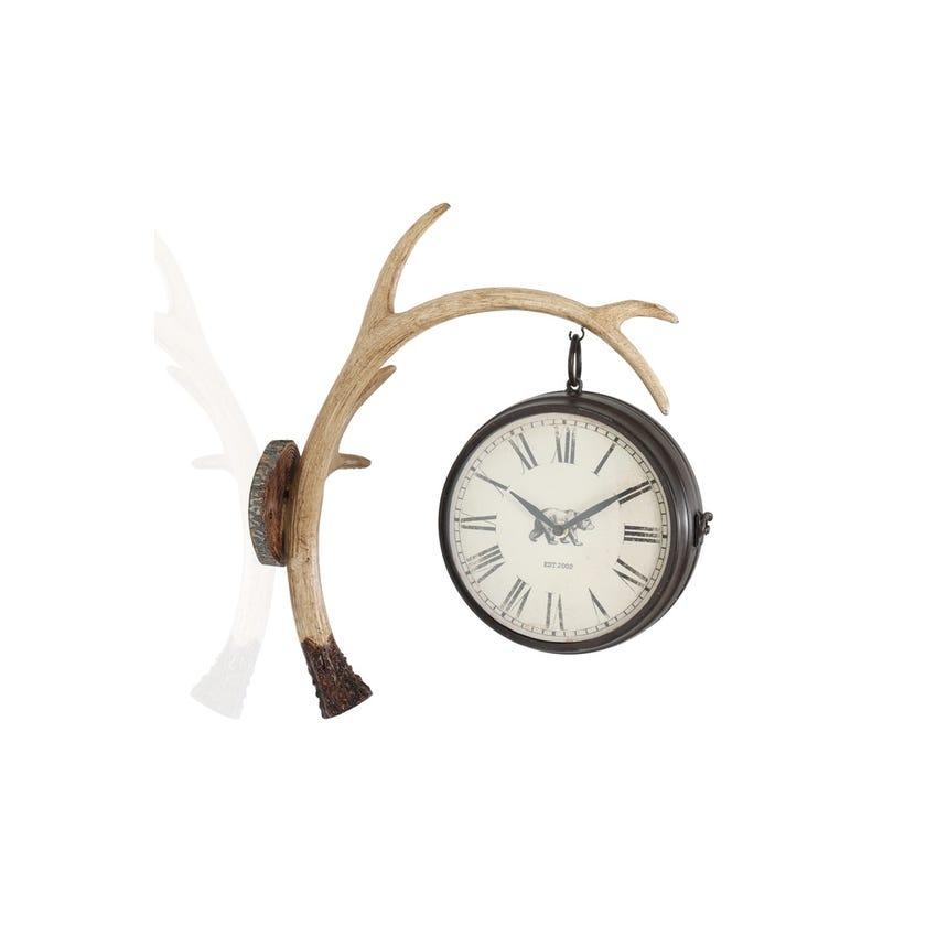 Hanging Clock - Black and Brown
