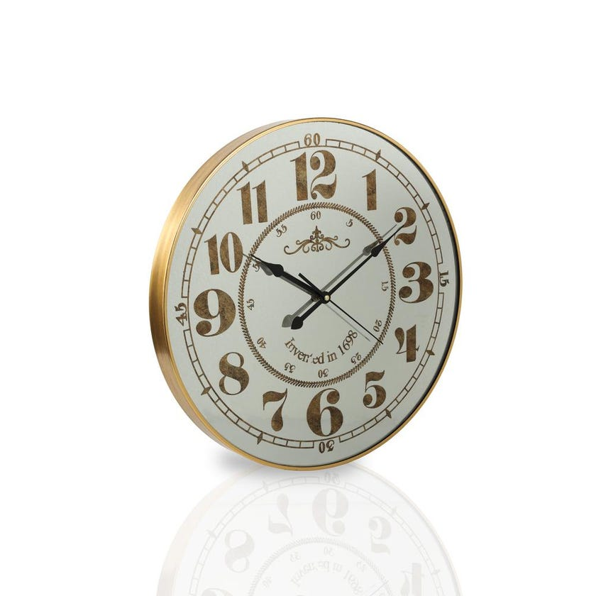 Golden Glass Wall Clock