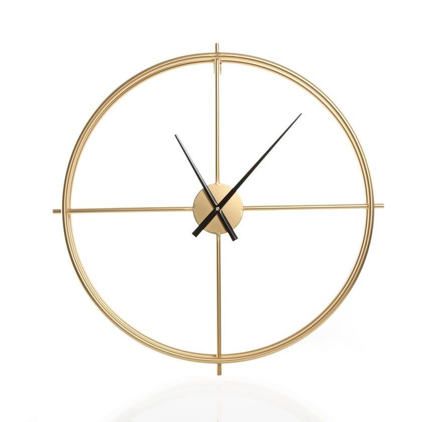Samson Metal Wall Clock, Gold