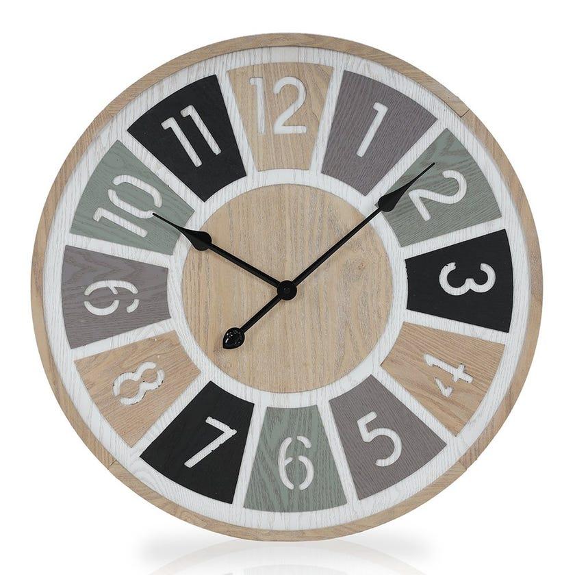 Melba MDF Wall Clock, Multicolour