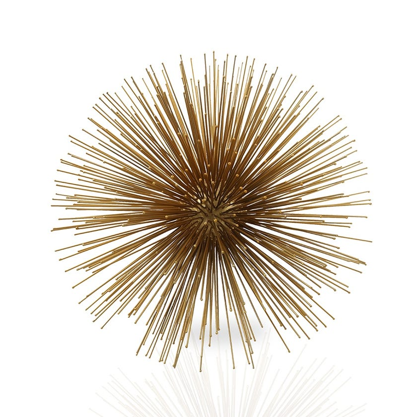 Urchin Wall Décor, Gold - Large