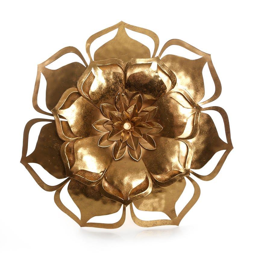 Flower Wall Décor (33 x 32.5 cms, Gold)