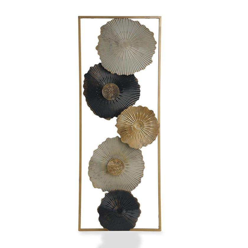 Mushroom Metal Wall Décor (28.6 x 74.3 cms, Multicolour)