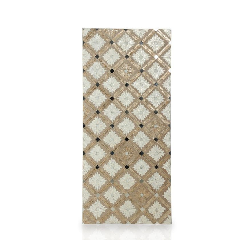 Capiz Wall Panel (122 x 56 cms, White and Gold)