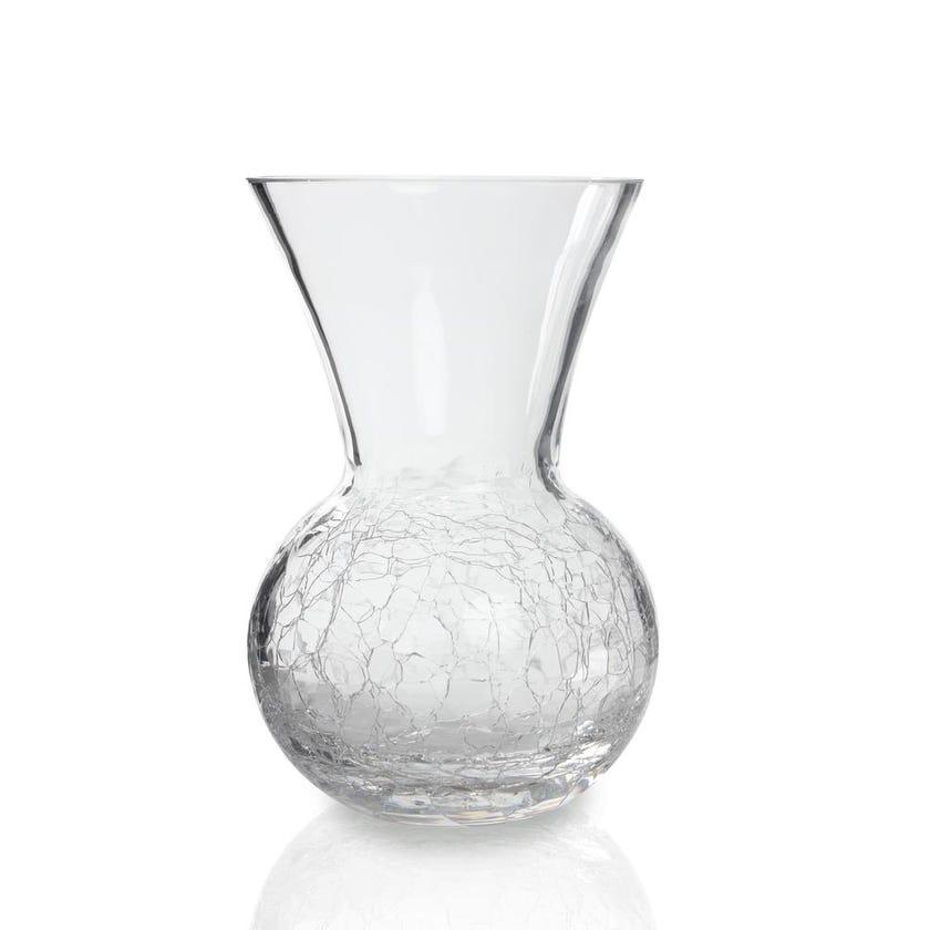 Cracked Glass Vase, 12cm x 18cm