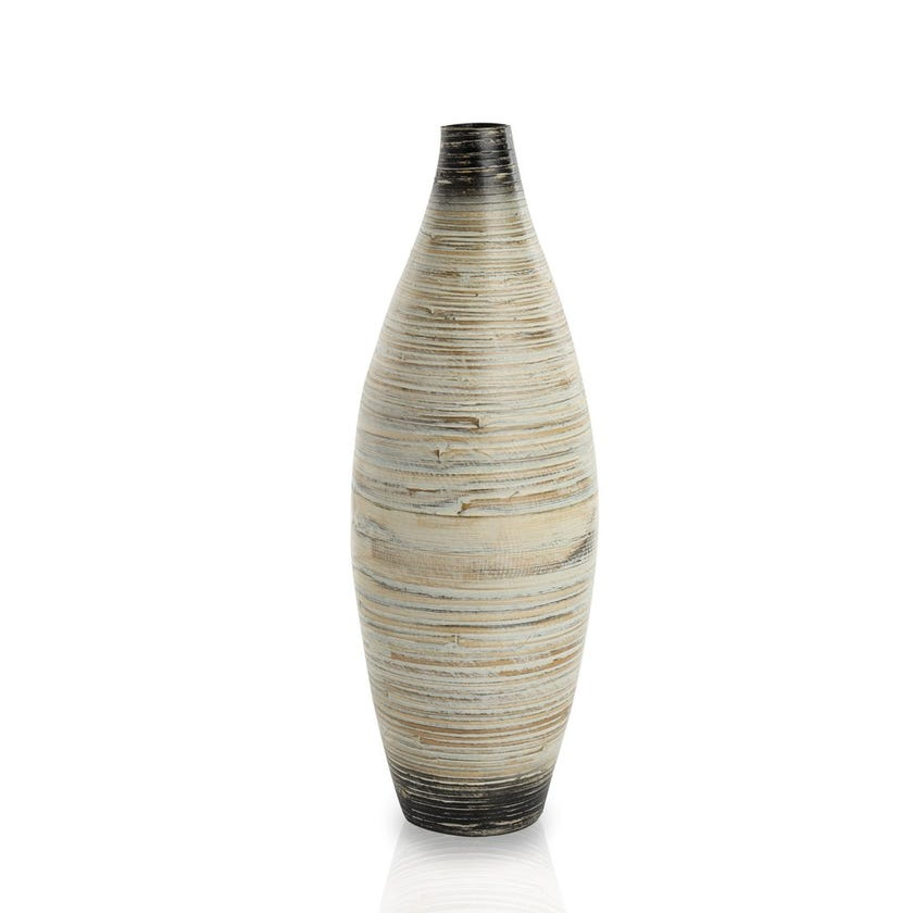 Stellar Bamboo Vase with Lacquer, Large