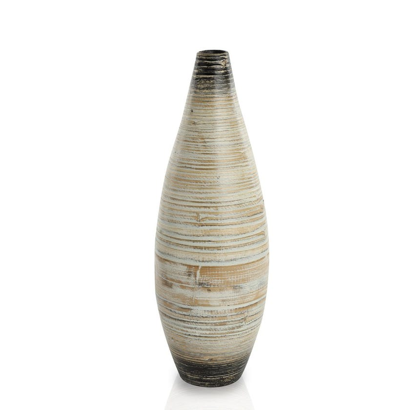 Stellar Bamboo Vase with Lacquer, Medium