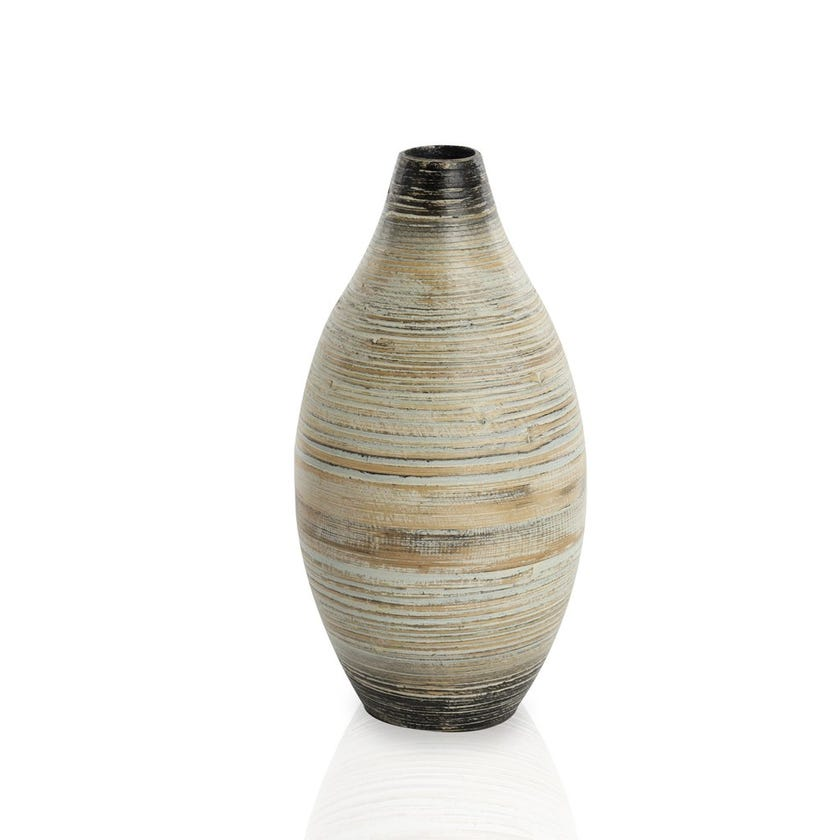 Stellar Bamboo Vase with Lacquer, Small