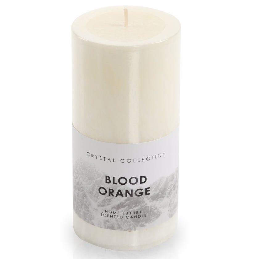Blood Orange Pillar Candle, White – 7x15 cms