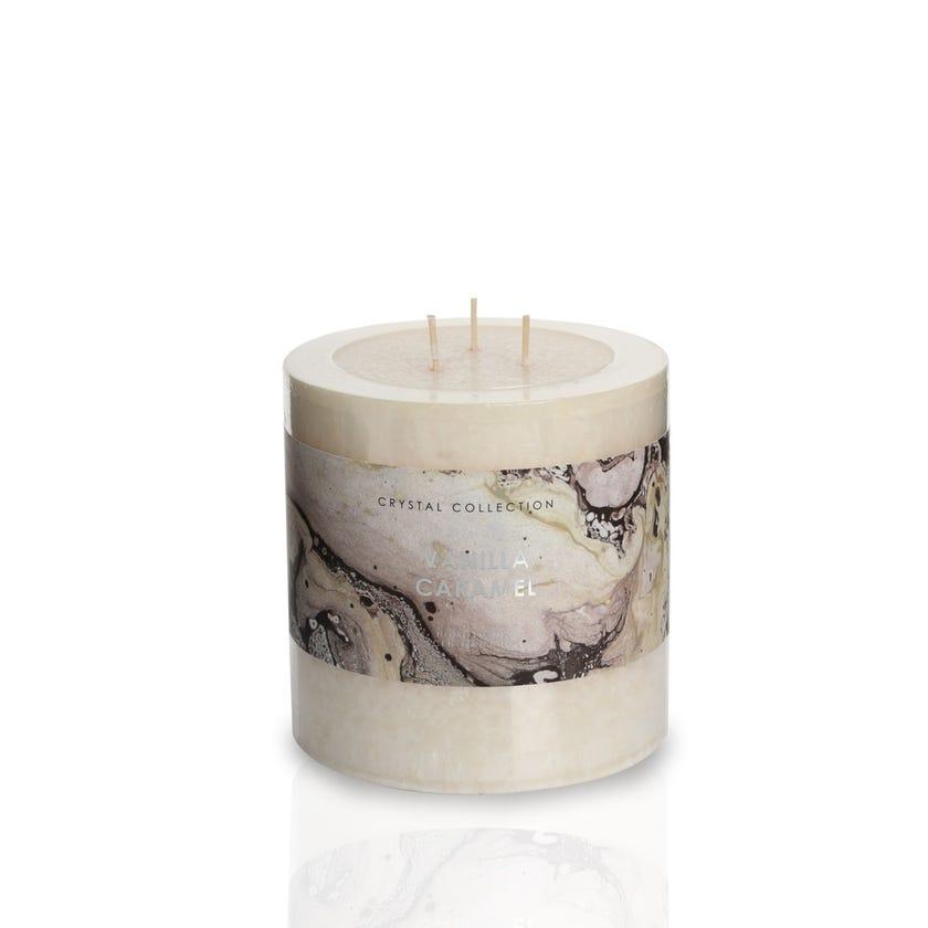 Vanilla Caramel Pillar Candle - 12.5 x 12.5 cms, Ivory