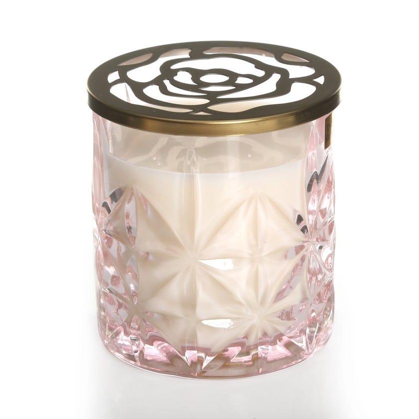 Indian Rose and Almond Jar Candle Set, Light Pink