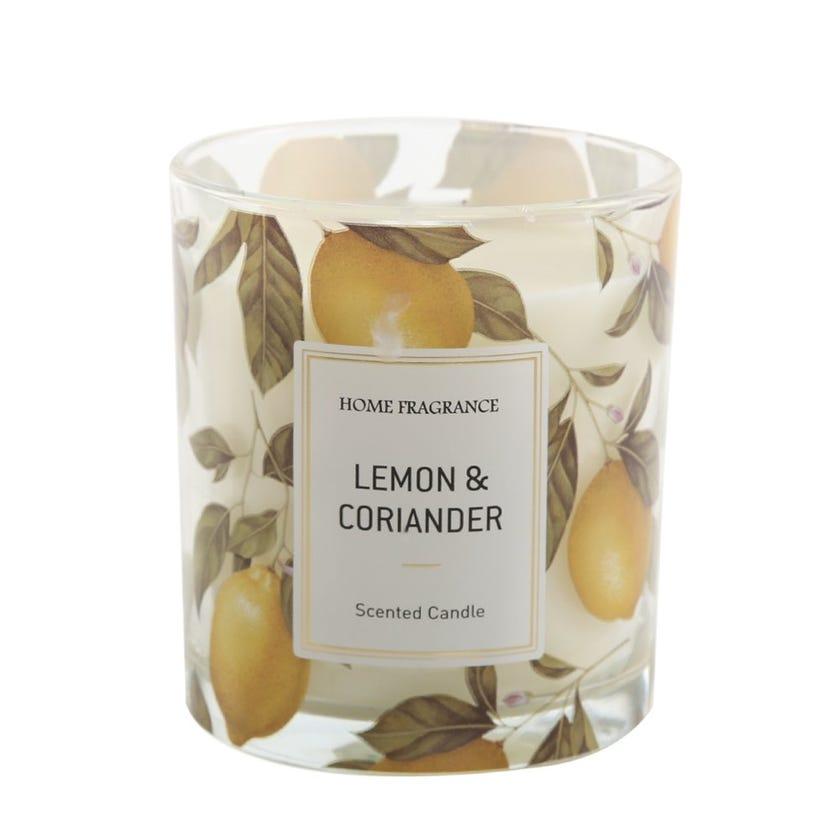 Lemon and Coriander Jar Candle - 9 x 8 cms