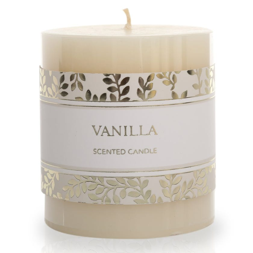 Vanilla Round Pillar Candle – 7.62x6.98 cms