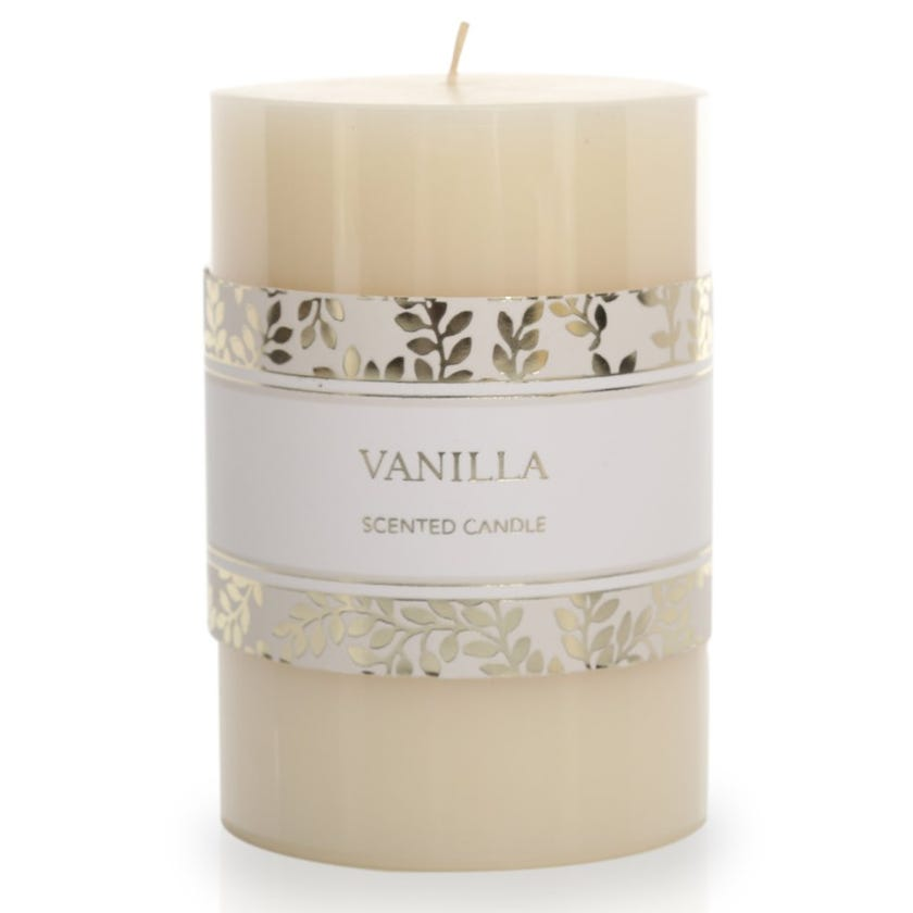 Vanilla Pillar Candle – 10.16x6.98 cms