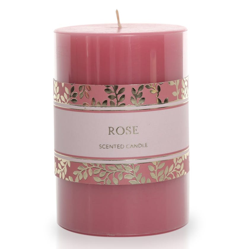 Rose Pillar Candle – 10.16x6.98 cms