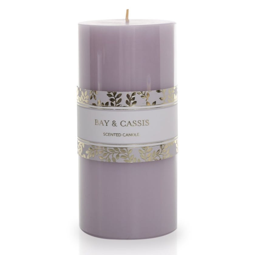 Bay & Cassis Pillar Candle – 15.24x6.98 cms