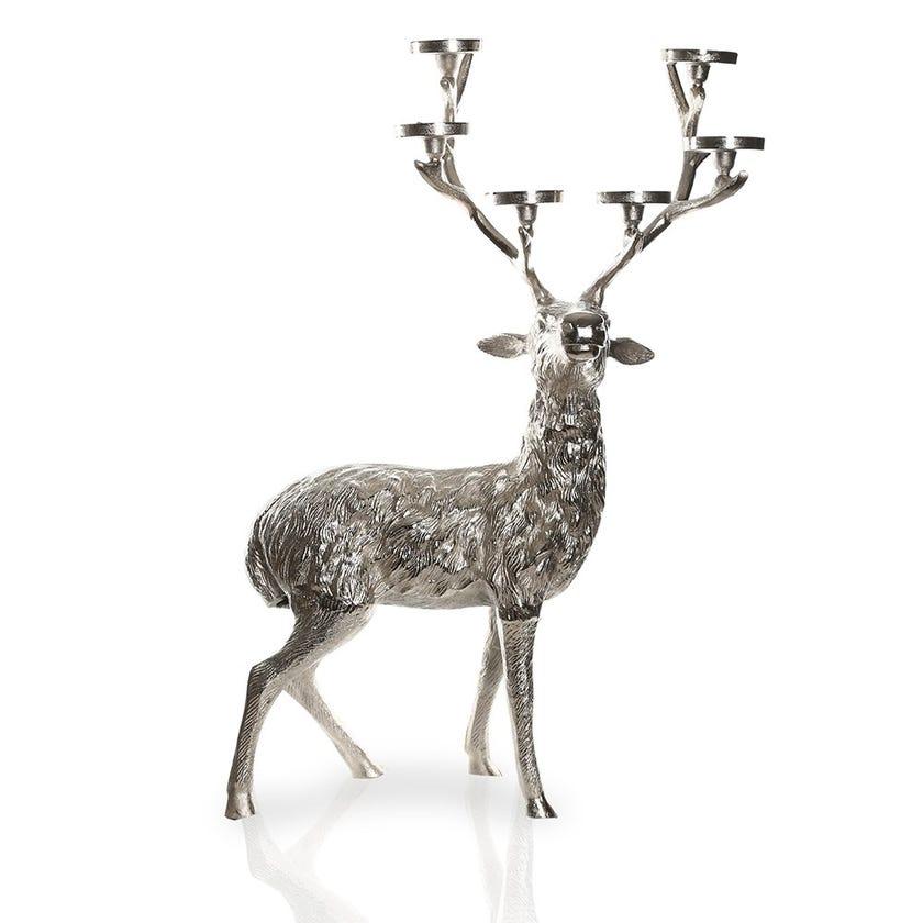 Reindeer 6-Pillar Candle Holder