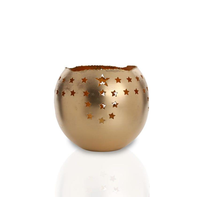 Star Votive Candle Holder Gold - 20 cms