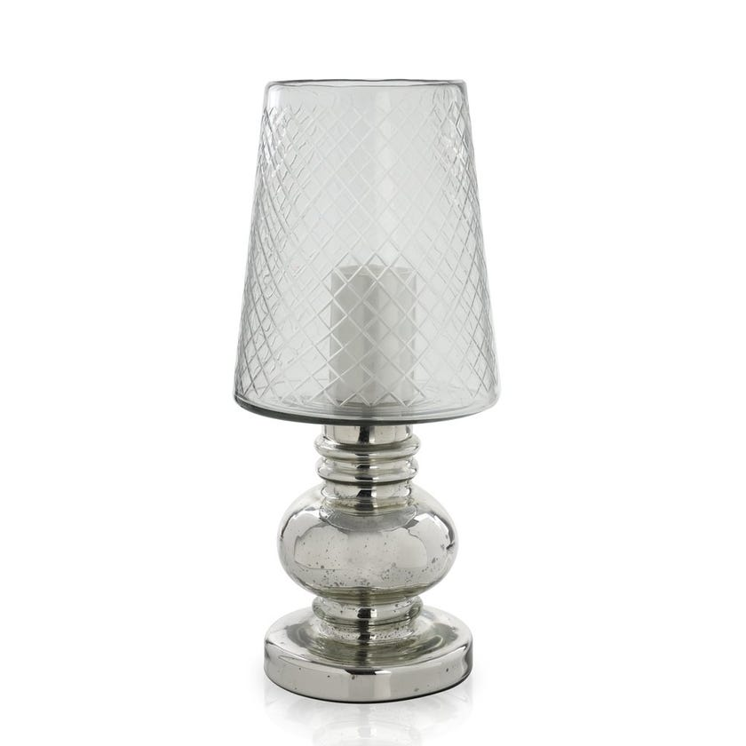 Clear Glass Candle Holder, Large