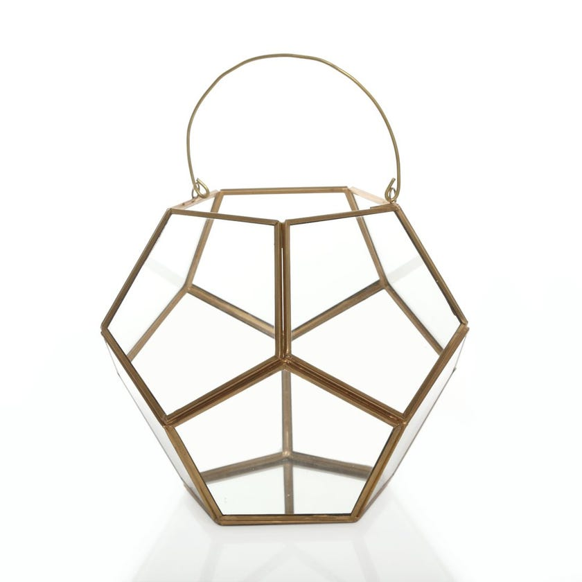 Glass Terrarium Candle Lantern