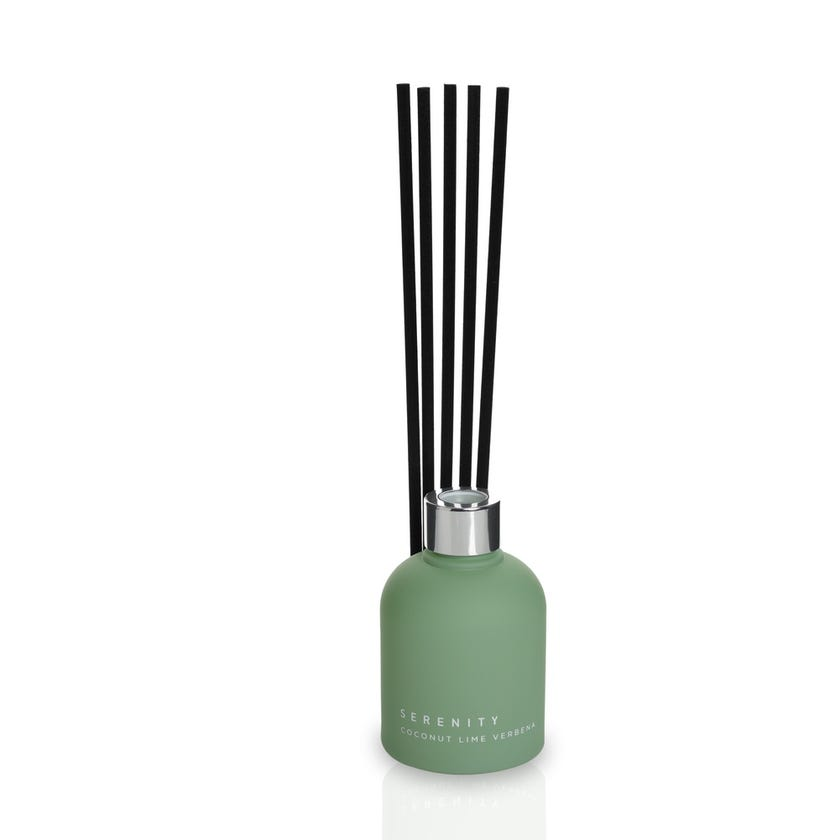 Coconut Frosted Reed Diffuser - Green, 150 ml