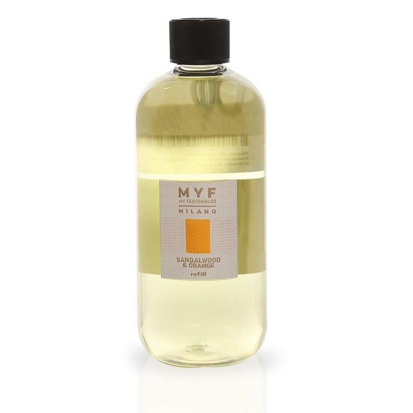 Sandalwood & Orange Diffuser Refill, Transparent – 500 ml