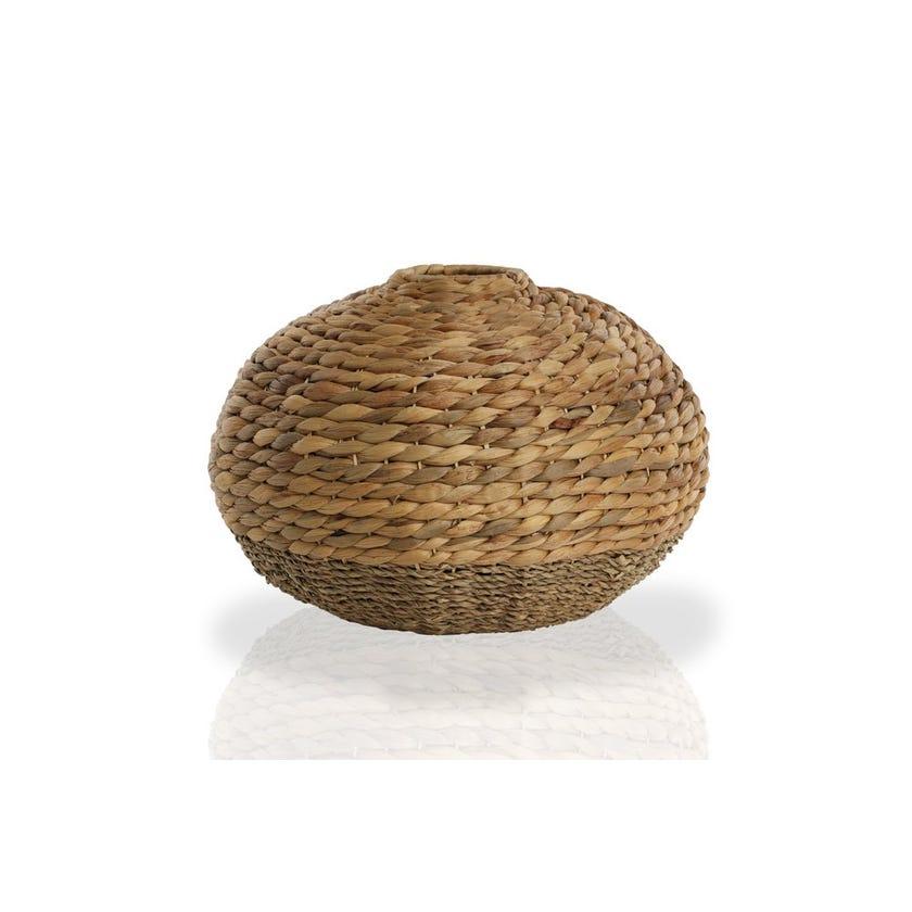 Seagrass Hyacinth Vase, Round
