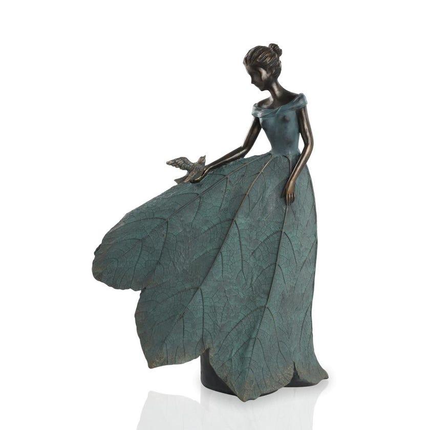 Resin Girl Dress Figurine - 52 cms