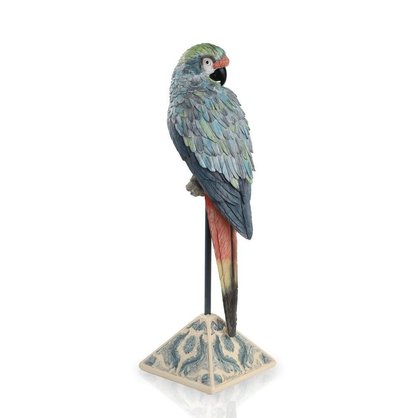 Resin Macaw on Mantle Figurine - 60 cms