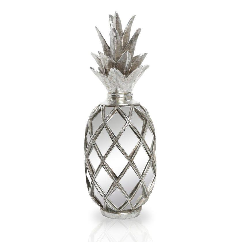 Decorative Pineapple Figurine, Silver – 38x14 cms